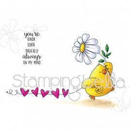 301779 Stamping Bella Cling Stamp Marching Chick