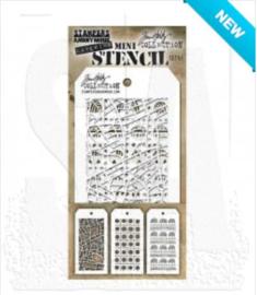 MTS 51 Tim Holtz Mini Layered Stencil Set #51  3/Pkg