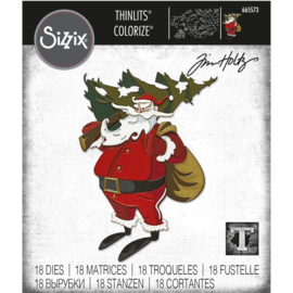665573 Sizzix Thinlits Dies Woodland Santa Colorize By Tim Holtz 18/Pkg