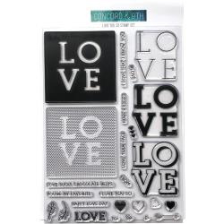 """337024 Concord & 9th Clear Stamps  Love You So 6""""X8"""""""