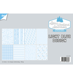 6011/0581 Papier Set A4 Design Light Bleu