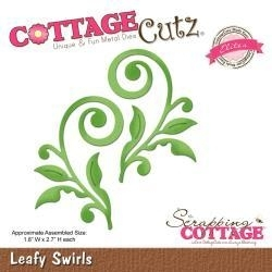 "334681 CottageCutz Elites Die Leafy Swirls, 1.8""X2.7"""