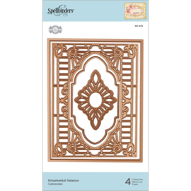 S5415 Spellbinders Flourished Fretwork Etched Die Ornamental Valance By Becca Feeken