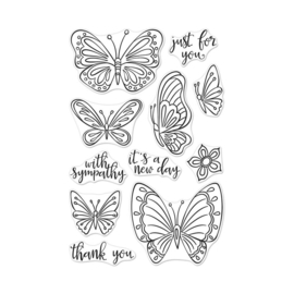 "565899 Hero Arts Clear Stamps New Day Butterflies 4""X6"""