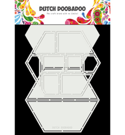 470.713.850 Dutch DooBaDoo Card Art Easel Card hexagon