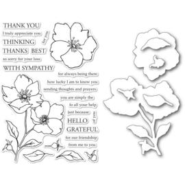 CL5258D Memory Box Stamp & Die Set Wild Rose Stem