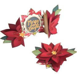 663174 Sizzix Thinlits Dies Sizzix Thinlits Dies Poinsettia Fold-A-Long Card By Jen Long 9/Pkg