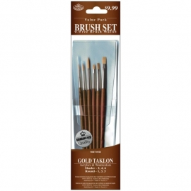 325163 Brush Set Value Pack Gold Taklon