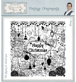 SYR024 Pre Cut Rubber Stamp Vintage Ornaments