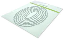 115633/0964 CraftEmotions Big Nesting Die - deckle ovalen Card 150x160 - 10,5x15cm