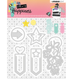 STENCILCR155 Cutting and Embossing Die Create Happiness nr.155