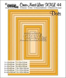 115634/0044 Crealies Dies XXL no. 44 Rechthoeken met stippen