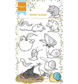 HT1614 Marianne Design stempel Hetty's garden animals