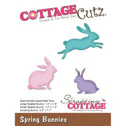 "303284 CottageCutz Elites Die Spring Bunnies, 1.2"" To 2.2"""