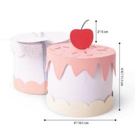 664400 Sizzix Thinlits Plus Die Set Cake Box Georgie Evans 11PK