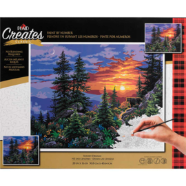 "558011 Paint By Number Kit Sunset Dreams 16""X20"""