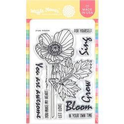 """596471 Waffle Flower Crafts Clear Stamps In Bloom 4""""X6"""""""