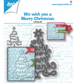 6002/1533 Stansmal We Wish You-kerstboom