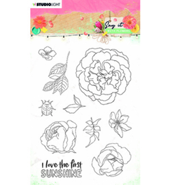 SL-SWF-STAMP527 StudioLight SL Clear Stamp Say it with flowers nr.527