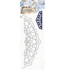 STENCILCNB377 StudioLight Cutting & Emb. Die Cardshape Celebrate new beginnings nr.377