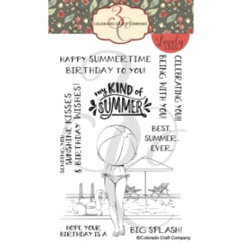"""C3LL520 Colorado Craft Company Clear Stamps Summertime Birthday-Lovely Legs 4""""X6"""""""