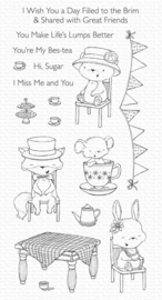 SY27 My Favorite Things Tea Party Clear Stamp