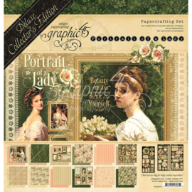 """G4502273 Graphic 45 Deluxe Collector's Edition Pack Portrait Of A Lady 12""""X12"""""""