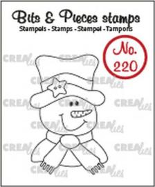 130504/0220 Crealies Bits & Pieces Sneeuwpop CLBP220 28x43mm