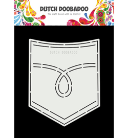 470.713.751 Dutch DooBaDoo Card Art Jeans pocket