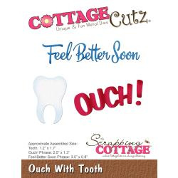 322023 CottageCutz Die Ouch With Tooth