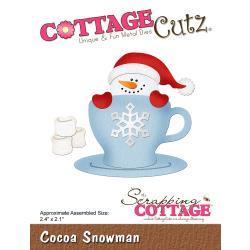 """540399 CottageCutz Die Cocoa Snowman 2.4""""X2.1"""""""