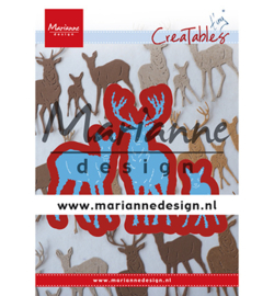 LR0615 Marianne Design Cutting & embossing Tiny's Deer Family