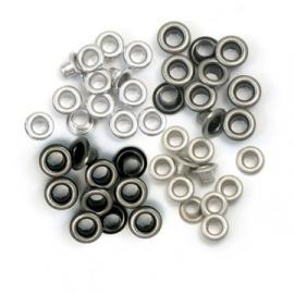 117027/6010 Eyelets Cool Metal