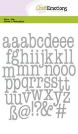115633/0525 CraftEmotions Die alfabet typewriter kleine letters Card