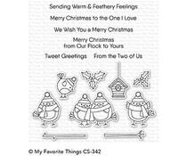 CS-342 My Favorite Things Tweet Holidays Clear Stamps