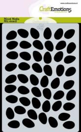 185070/0123 CraftEmotions Mask stencil achtergrond eieren A6 Carla Creaties