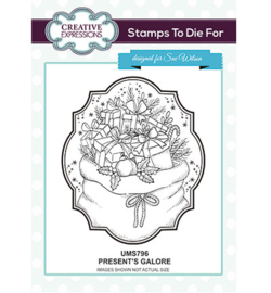 UMS796 To Die For Stamp Presents Galore