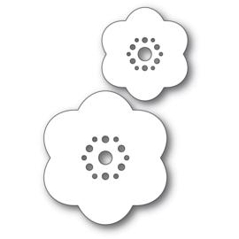 633303 Poppystamps Metal Dies Rounded Bloom Flowers