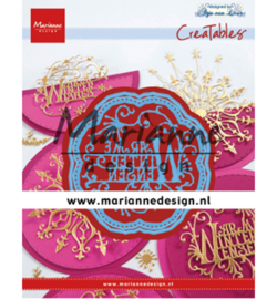 LR0619 Cutting & embossing Anja's Warme Winter Wensen