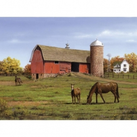 """134277 Paint By Number Artist`s Collection 12""""X16"""" Horse And Barn"""