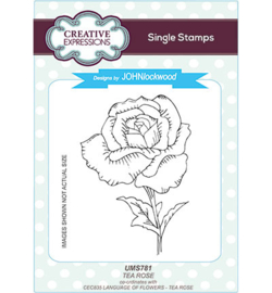 UMS781 Single Stamp Tea Rose