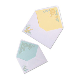 665077 Sizzix Thinlits Die Set - 7PK Foliage Envelope Liners Sharon Drury