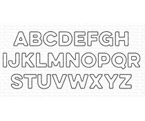 MFT-1545 My Favorite Things Captions Alphabet Die-namics