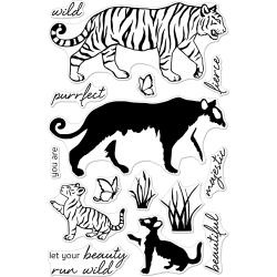 """048847 Hero Arts Clear Stamps Color Layering Bengal Tigers 4""""X6"""""""