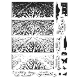 """620568 Hero Arts Color Layering Clear Stamps 4""""X6"""" Lavender Field"""