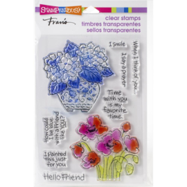 615402 Stampendous Perfectly Clear Stamps Blue Poppies