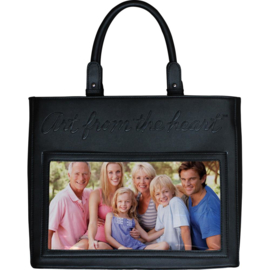 """301236 Art From The Heart Faux Leather Handbag Black 13""""X11""""X6.5"""""""