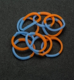 45056 - Band-it - Elastieken Blue/Orange 600pcs