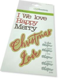 115633/0537 CraftEmotions Die - tekst Christmas Love Card