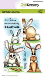 130501/1664 CraftEmotions clearstamps A6 Bunny 1 Carla Creaties